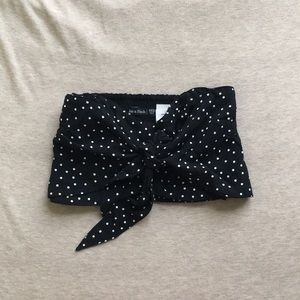 Abercrombie $ Fitch polka dot tie front tube top
